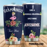 Personalized Grammingo Flamingo And Flowers Tumbler Like A Normal Grandma Only More Awesome Tumbler Gifts For Grandma 20 Oz Sports Bottle Stainless Steel Vacuum Insulated Tumbler