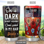 Personalized Hippie Van Tumbler Cup On A Dark Desert Highway Stainless Steel Insulated Tumbler 20 Oz Perfect Gifts For Hippie Lovers  Great Customized Gifts For Birthday Christmas Thanksgiving