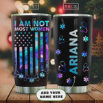 Personalized American Nurse Tumbler Cup, Stethoscope, Stainless Steel Insulated Tumbler 20 Oz, Coffee/ Tea Tumbler, Perfect Gifts For Nurse, Gifts For Birthday Christmas Thanksgiving