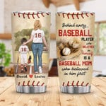 Personalized Baseball Player Custom Stainless Steel Tumbler