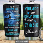 Personalized Love Tumbler To My Wife You Are The Only One Tumbler Cup Stainless Steel Tumbler, Tumbler Cups For Coffee/Tea, Great Customized Gifts For Birthday Christmas