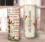 Personalized Mom Dad In Heaven Tumbler Cup I Can Only Imagine Tumbler Gifts For Mom Dad In Heaven Memoration Cardinal Bird Tumbler Gift From Daughter Son