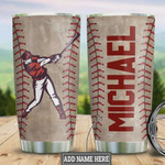 Personalized Baseball Batter Tumbler Cup Stainless Steel Insulated Tumbler 20 Oz Great Gifts For Baseball Player Baseball Lovers Best Gifts For Birthday Christmas Gifts For Friends Relatives