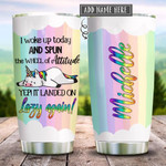 Unicorn Lazy Personalized Tumbler Cup Stainless Steel Insulated Tumbler 20 Oz Perfect Gifts For Unicorn Lovers Best Gifts For Birthday Christmas Thanksgiving Tumbler For Coffee/ Tea With Lid