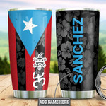Personalized Puerto Rico Tumbler Cup Puerto Rican Flag Stainless Steel Insulated Tumbler 20 Oz Best Gifts For Puerto Rican People Great Customized Gifts For Birthday Christmas Thanksgiving