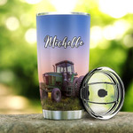 Personalized Green Tractor Things I Do In My Spare Times Stainless Steel Tumbler, Tumbler Cups For Coffee/Tea, Great Customized Gifts For Birthday Christmas Thanksgiving