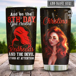 Redheads On The 8th Day Personalized Tumbler Cup God Created And Devil Stood At Attention Stainless Steel Vacuum Insulated Tumbler 20 Oz Perfect Gifts For Girl On Birthday Christmas Thanksgiving