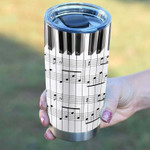 Personalized Piano Tumbler Piano Key Music Sheet Tumbler Cup Stainless Steel Tumbler, Tumbler Cups For Coffee/Tea, Great Customized Gifts For Birthday Christmas