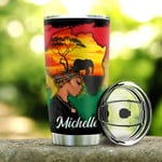 Personalized Black Girl Dream Like Martin Stainless Steel Tumbler, Tumbler Cups For Coffee/Tea, Great Customized Gifts For Birthday Christmas Thanksgiving