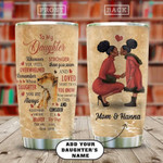 Lion Afro Mom Personalized Tumbler Cup, To My Daughter, Stainless Steel Insulated Tumbler 20 Oz, Perfect Gifts From Mamy To Daughter On Birthday Christmas Thanksgiving, Love Mom