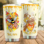 Personalized Honey Bee Flower Tumbler Custom Name Gifts For Bee Lovers Beekeepers 20 Oz Sport Bottle Stainless Steel Vacuum Insulated Tumbler