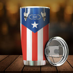 Personalized Puerto Rico Drum Custom Tumbler For Puerto Rican On Daily Life Stainless Steel Vacuum Insulated Double Wall Travel Tumbler With Lid, Tumbler Cups For Coffee/Tea, Perfect Gifts For Birthday