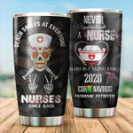 Personalized Nurse Death Smiles At Everyone Stainless Steel Vacuum Insulated Double Wall Travel Tumbler With Lid, Tumbler Cups For Coffee/Tea, Perfect Gifts For Birthday Christmas Thanksgiving