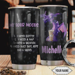 Personalized Purple Dragon Four Moods Tumbler Cup Need Coffee Need A Nap Need A Vacation Stainless Steel Insulated Tumbler 20 Oz Best Birthday Gifts Christmas Gifts For Dragon Lovers