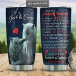 Personalized Wolf Couple To My Husband Tumbler Cup, To My Amazing Husband I Need You Trusting You, Stainless Steel Vacuum Insulated Tumbler 20 Oz, Best Gifts For Husband On Valentine, Anniversary