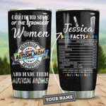 Autism Mom Facts Personalized Tumbler Cup God Found Some Of The Strongest Woman Stainless Steel Vacuum Insulated Tumbler 20 Oz Travel Tumbler With Lid Great Gifts For Birthday Christmas