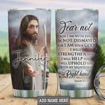 Personalized Faith Jesus Right Hand Colors Tumbler Cup Stainless Steel Insulated Tumbler 20 Oz Special Gifts For Birthday Christmas Thanksgiving Coffee/ Tea Tumbler With Lid