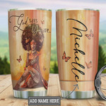Personalized Black Women Faith Butterfly Tumbler Cup God Say You Are Stainless Steel Insulated Tumbler 20 Oz Great Customized Gifts For Birthday Christmas Thanksgiving Best Tumbler For Girls