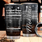 Personalized Volleyball Player Nutrition Facts Stainless Steel Tumbler, Tumbler Cups For Coffee/Tea, Great Customized Gifts For Birthday Christmas Thanksgiving