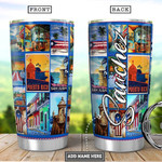 Personalized Puerto Rico Picture Tumbler Cup Puerto Rican Flag Stainless Steel Vacuum Insulated Tumbler 20 Oz Great Customized Gifts For Birthday Christmas Thanksgiving Coffee/ Tea Tumbler