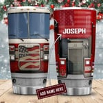 Fire Truck Head Personalized Tumbler Cup Stainless Steel Insulated Tumbler 20 Oz Best Gifts For Firefighter On Birthday Christmas Thanksgiving Tumbler For Coffee/ Tea With Lid