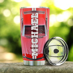 Personalized Car Tumbler Red Mustang All Over Print Tumbler Cup Stainless Steel Tumbler, Tumbler Cups For Coffee/Tea, Great Customized Gifts For Birthday Christmas
