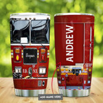 Fire Truck Head Personalized Tumbler Cup Stainless Steel Insulated Tumbler 20 Oz Best Gifts For Firefighter Great Customized Gifts For Birthday Christmas Thanksgiving Coffee/ Tea Tumbler With Lid
