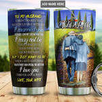 Old Couple Picture To My Husband Personalized Tumbler Cup  I Love You  Stainless Steel Vacuum Insulated Tumbler 20 Oz Perfect Gifts For Husband Best Birthday Christmas Anniversary Gifts