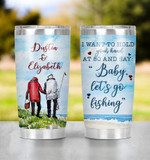 Personalized I Want To Hold Your Hand At 80 Fishing Tumbler,Old Couple Funny Fisherman Camper For Couple Grumpy Old Husband Gifts For Birthday Christmas Valentine Wedding Anniversary 20 Oz Tumbler
