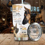 Personalized Shepherd Dog To My Dad I'll Always Be Your Little Girl Stainless Steel Vacuum Insulated Double Wall Travel Tumbler With Lid, Tumbler Cups For Coffee/Tea, Perfect Gifts For Birthday Father's Day