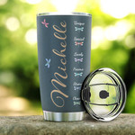 Personalized Dragonfly Girl Tumbler I Am The Storm Stainless Steel Tumbler, Tumbler Cups For Coffee/Tea, Great Customized Gifts For Birthday Christmas Thanksgiving