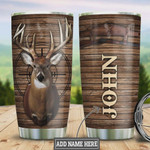 Personalized Deer Hunting Tumbler Cup, Woody Style Stainless Steel Vacuum Insulated Tumbler 20 Oz, Perfect Gifts For Birthday Christmas Thanksgiving, Gifts For Deer Lovers, Coffee/ Tea Tumbler