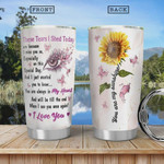 Sunflower With Butterfly You Are My Sunshine Stainless Steel Vacuum Insulated Tumbler 20 Oz, Gifts For Birthday Christmas Thanksgiving, Coffee/ Tea Tumbler