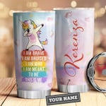 Lgbt Unicorn Personalized Tumbler Cup I Am Who I Am I Am Brave Stainless Steel Vacuum Insulated Tumbler 20 Oz Tumbler For Coffee/ Tea Best Gifts For Lgbt Great Birthday Gifts Christmas Gifts