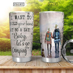 Married Camping Tumbler Baby Let's Go Camping Stainless Steel Tumbler, Tumbler Cups For Coffee/Tea, Great Customized Gifts For Birthday Christmas Thanksgiving