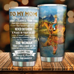 Personalized To My Mom Tumbler Thank You For The Love Stainless Steel Vacuum Insulated Double Wall Travel Tumbler With Lid, Tumbler Cups For Coffee/Tea, Perfect Gifts For Mom On Mother's Day Birthday