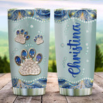 Cat Paw Jewelry Style Personalized Tumbler Cup, Stainless Steel Vacuum Insulated Tumbler 20 Oz, Coffee/Tea Tumbler With Lid, Perfect Gifts For Cat Lovers, Gifts For Birthday Christmas Thanksgiving