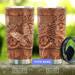 Personalized Wood Carving Butterfly Vintage Tumbler Gifts For Birthday Christmas Thanksgiving 20 Oz Sports Bottle Stainless Steel Vacuum Insulated Tumbler