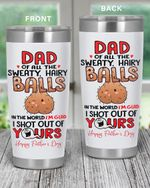 Father'S Day 2021 Dear Dad Of All The Balls In The World I'M Glad That I Came Out Of Yours From Swimming Champion Ball Tumbler, Father'S Day Gift, Funny Ball, Idea For Travelling Camping Tumbler