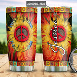 Personalized Sunflower Hippie Tumbler Cup Every Little Thing Is Gonna Be Alright Stainless Steel Insulated Tumbler 20 Oz Great Customized Gifts For Birthday Christmas Thanksgiving Travel Tumbler