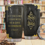 The Holy Bible The Lord With Me Gave Me Strength Stainless Steel Vacuum Insulated, 20 Oz Tumbler Cups For Coffee/Tea, Gifts For Birthday Christmas Thanksgiving