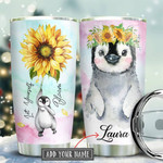 Penguin Personalized Stainless Steel Tumbler, Sunflower Let Yourself Bloom, 20 Oz Coffee/ TeaTumbler, Great Gifts For Birthday Christmas Thanksgiving, Perfect Gifts For Penguin Lovers