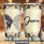 Personalized Butterfly Storm Mandala Tumbler Cup Stainless Steel Vacuum Insulated Tumbler 20 Oz Great Customized Gifts For Birthday Christmas Thanksgiving Coffee/ Tea Tumbler With Lid