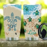 Turtle Ceramic Style Ocean Is My Home Personalized Tumbler Cup Stainless Steel Vacuum Insulated Tumbler 20 Oz Great Customized Gifts For Birthday Christmas Thanksgiving Coffee/ Tea Tumbler