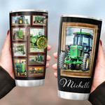 Personalized Tractor Farmer Stainless Steel Tumbler, Tumbler Cups For Coffee/Tea, Great Customized Gifts For Birthday Christmas Thanksgiving