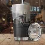 Personalized I Am A Truck Driver Stainless Steel Vacuum Insulated Double Wall Travel Tumbler With Lid, Tumbler Cups For Coffee/Tea, Perfect Gifts For Trucker On Birthday Christmas Thanksgiving