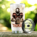 Personalized American Football Tumbler American Football Player Nutrition Facts Tumbler Cup Stainless Steel Tumbler, Tumbler Cups For Coffee/Tea, Great Customized Gifts For Birthday Christmas