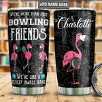 Bowling Gang Flamingo Personalized Tumbler Cup Stainless Steel Insulated Tumbler 20 Oz Best Gifts For Bowling Lovers Great Gifts For Birthday Christmas Thanksgiving Coffee/ Tea Tumbler With Lid