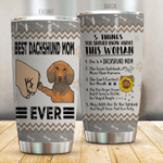 Dachshund Tumbler Best Dachshund Mom Ever Stainless Steel Vacuum Insulated Double Wall Travel Tumbler With Lid, Tumbler Cups For Coffee/Tea, Perfect Gifts For Birthday Christmas Thanksgiving