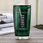 Personalized Celtic Clover Pattern Stainless Steel Tumbler, Tumbler Cups For Coffee/Tea, Great Customized Gifts For Birthday Christmas Thanksgiving